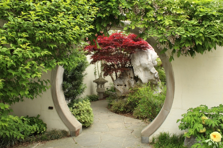 Japanese architecture in the garden