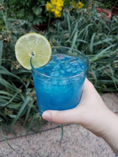 My blue cocktail in Washington D.C.! Does it resemble the ocean?