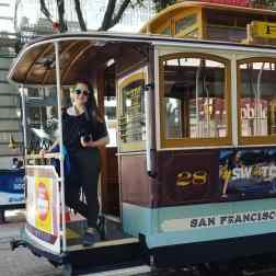 I hopped on one of the trolley's!