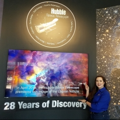 Video I produced for Hubble's 28th anniversary plays in front of the space telescope's control center!