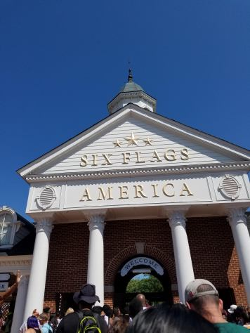 Entrance to Six Flags America