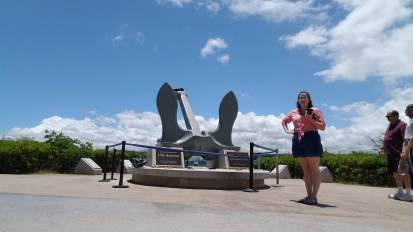 Me with the USS Arizona anchor