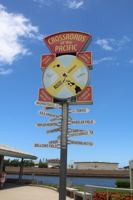 Crossroads of the Pacific sign